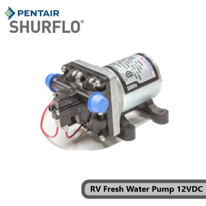 Pentair Shurflo 4008-101-E65 RV Fresh Water Pump 12V, 11.4LPM, 55PSI, 12V